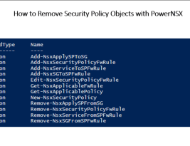 How to Remove NSX Security Policies with Rules using PowerNSX