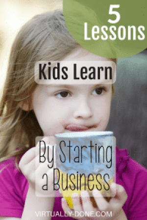 starting business, kids in business, life lessons