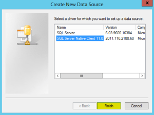 10 ODBC SQL Server Native Client