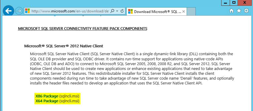 ms sql 2008 express native client download