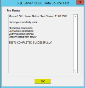 17 ODBC Data Source Test Results