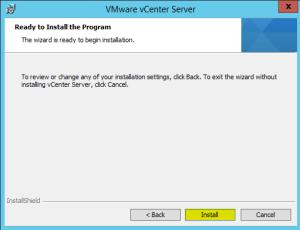 49 vCenterServer Install