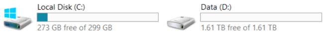 LABCORE01 Disks
