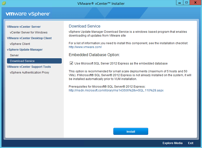 2 VUMD Install Screen