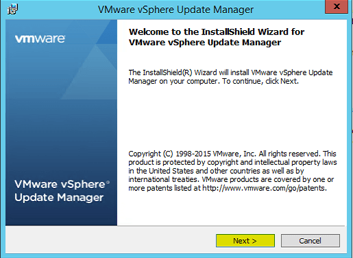 4 Welcome to VUM Installer