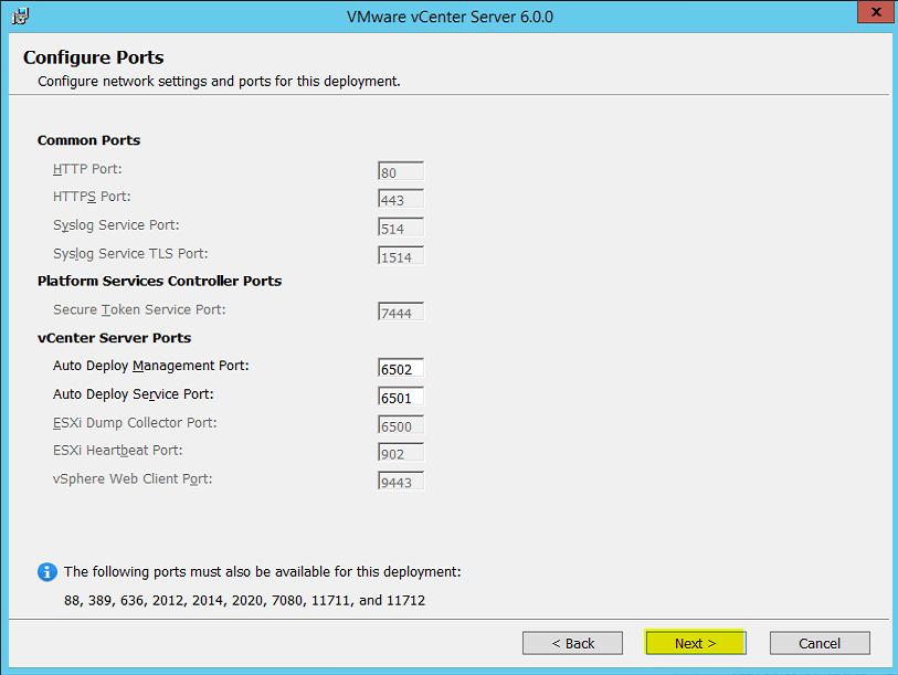 9 vCenter Server Ports