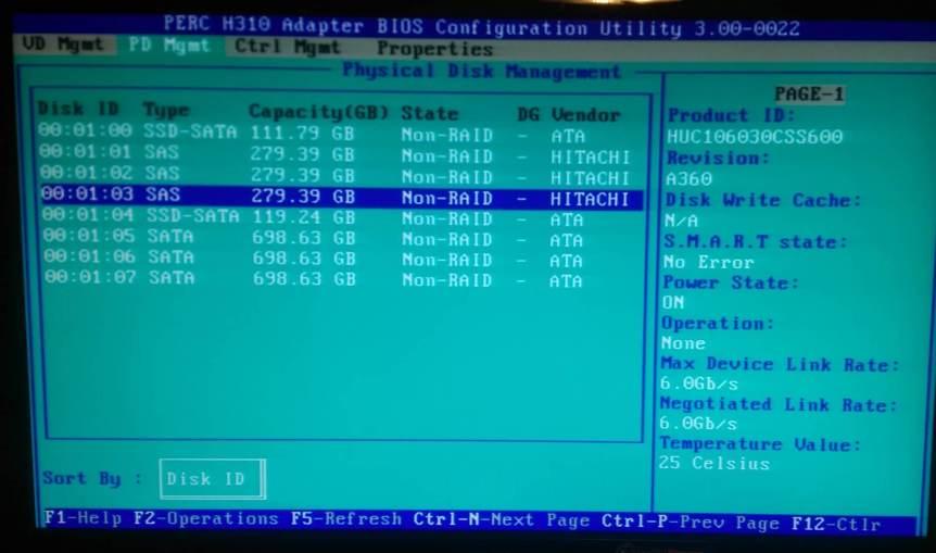 H310 - Make disk non-raid 4