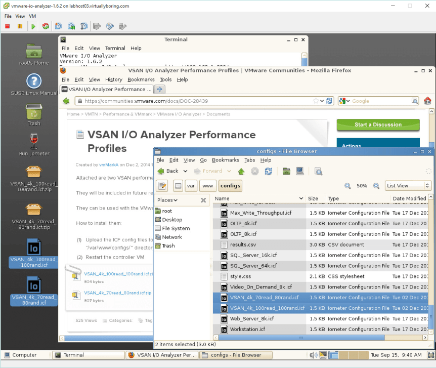 22 IO Analyzer - VSAN iometer Profiles