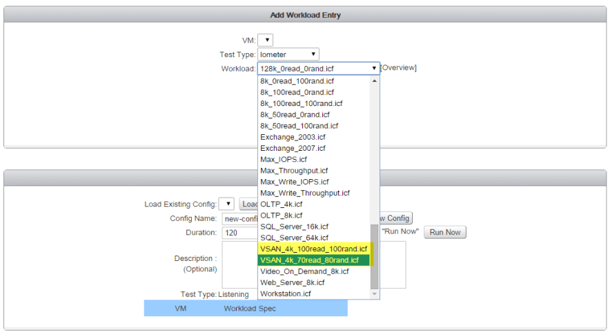 23 IO Analyzer - VSAN iometer Added