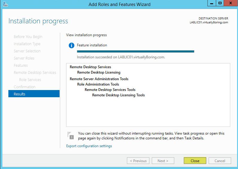 10 License Server - Results