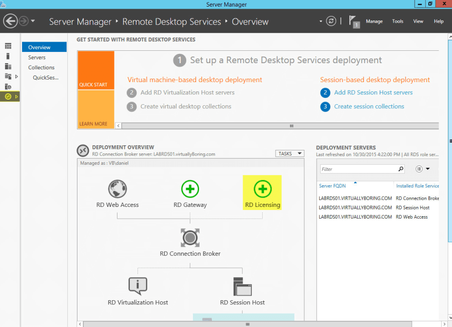Setup RD Licensing Role on Windows Server 2012 R2