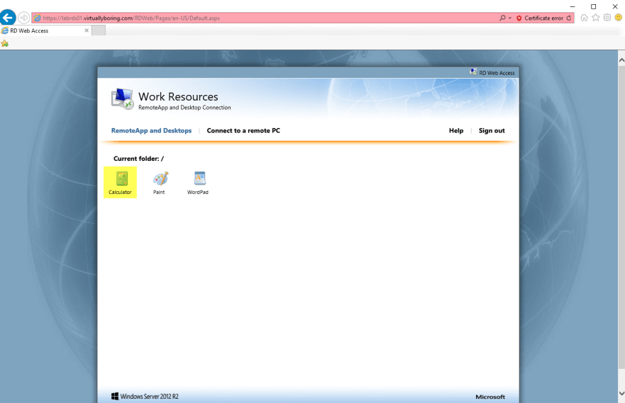 Setup Remote Desktop Services in Windows Server 2012 R2