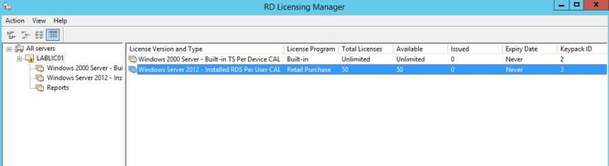 22 License Server - License Key Installed