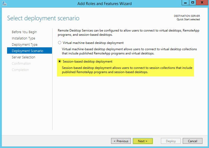 5 Remote Desktop Service - Deployment Scenario