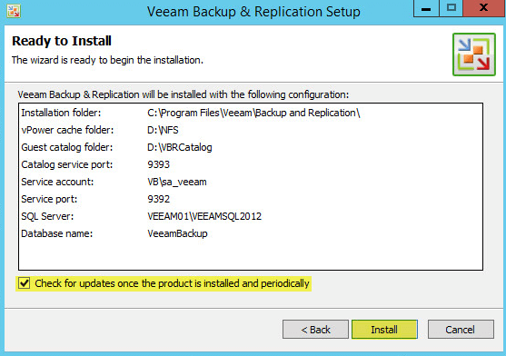 Veeam Backup 9 - Ready to Install