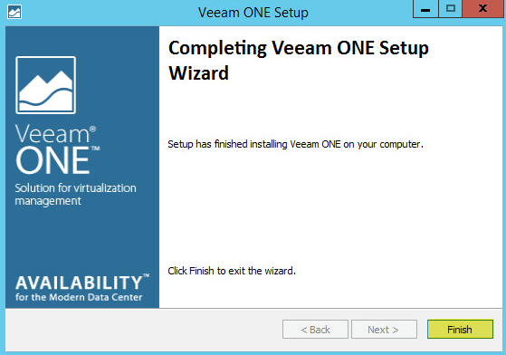 Veeam ONE 15 - Installation Finish