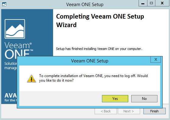 Veeam ONE 16 - Log Off Request