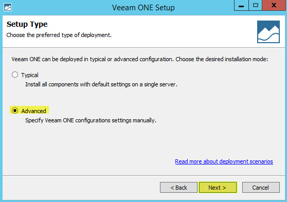 Veeam ONE 5 - Setup Type