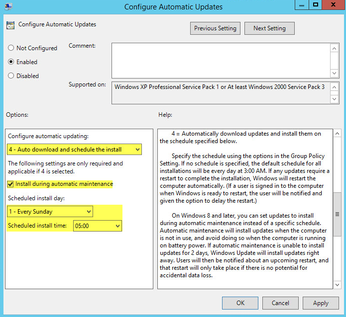 WSUS Automate 1 - Group Policy
