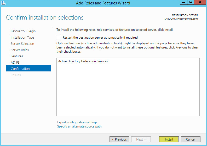 How to setup Microsoft Active Directory Federation Services