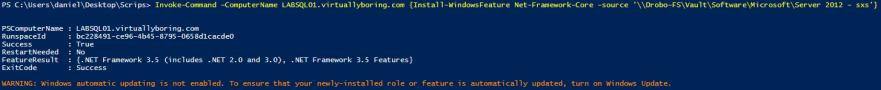 Microsoft SQL 2014 1 - .Net 3.5 Installation