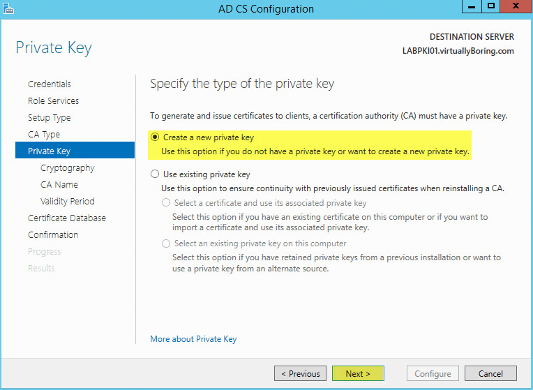 PKI 16 - AD CS Configuration Private Key
