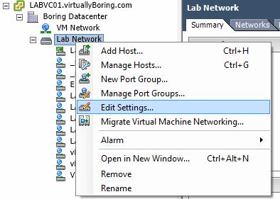 2 Edit Settings on vDS