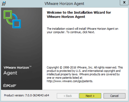 Add RDS Server to View 7 - 3 Welcome to Agent Installer