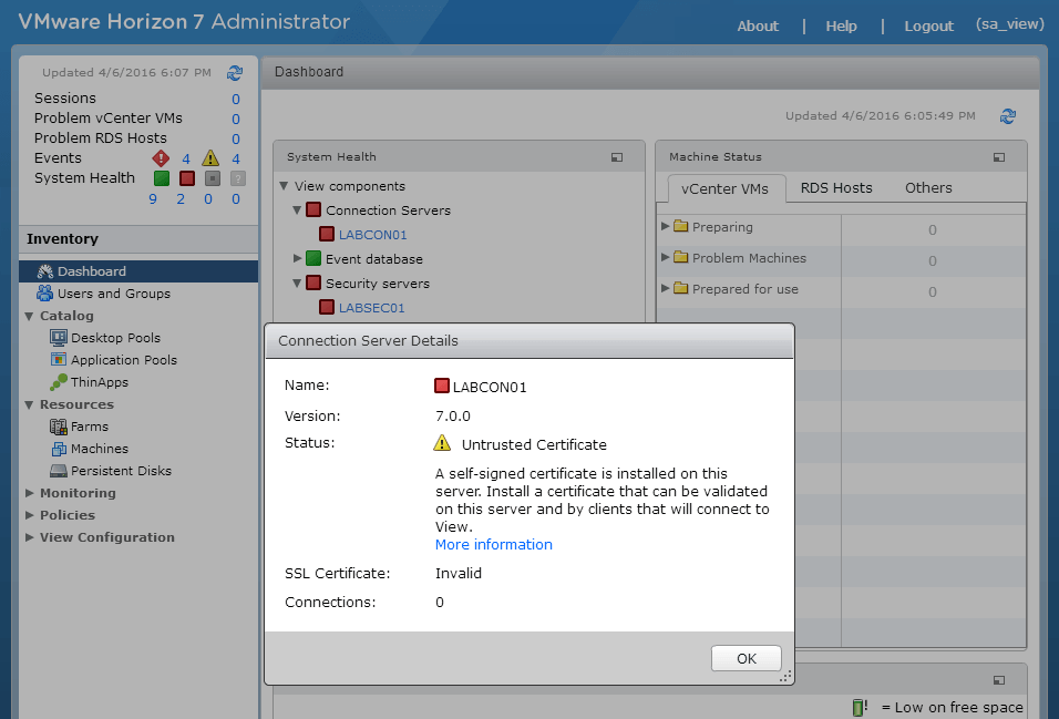 VMware Horizon View 7: Apply SSL Certificates [Part 2