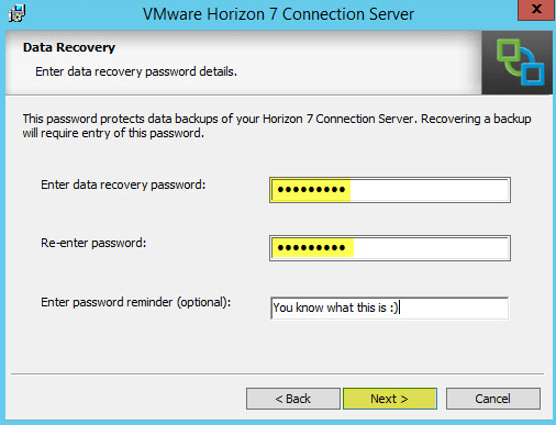 Horizon View 6 - Data Recovery