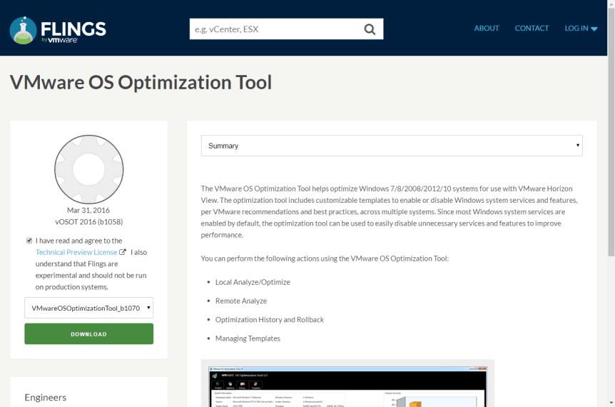 Horizon View 7 - 1 VMware OS Optimization