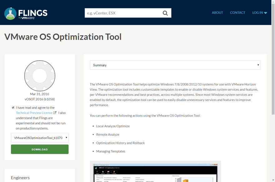 Horizon View 7 - 1 VMware OS Optimization