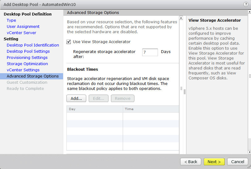 Horizon View 7 - 10 Advanced Storage Options
