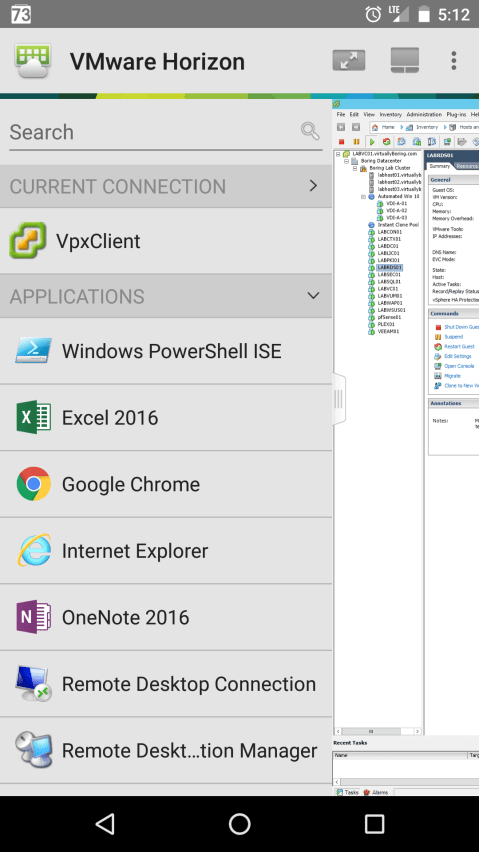 Horizon View 7 - Android Client