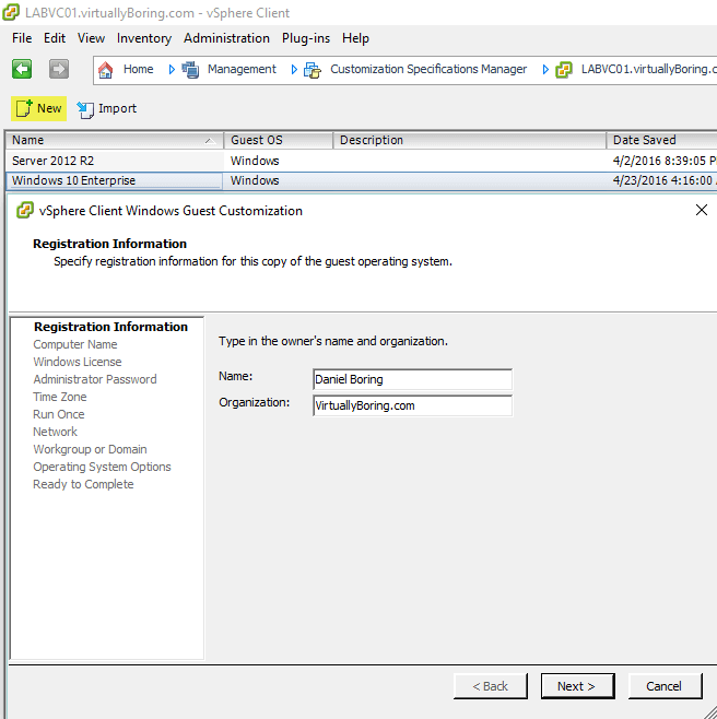 VMware Horizon View 7: Create Master Desktop Template [Part