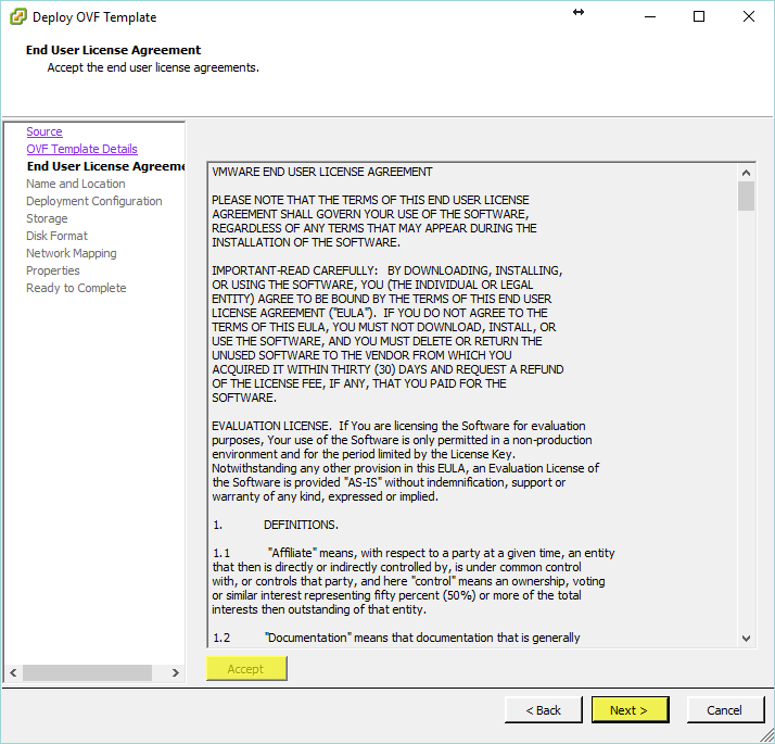 Log Insight Manager 4 - End User License Agreement