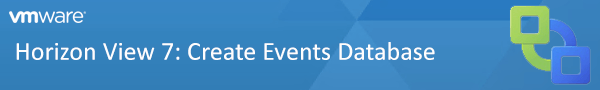 vB - Horizon View 7 Create Events Database