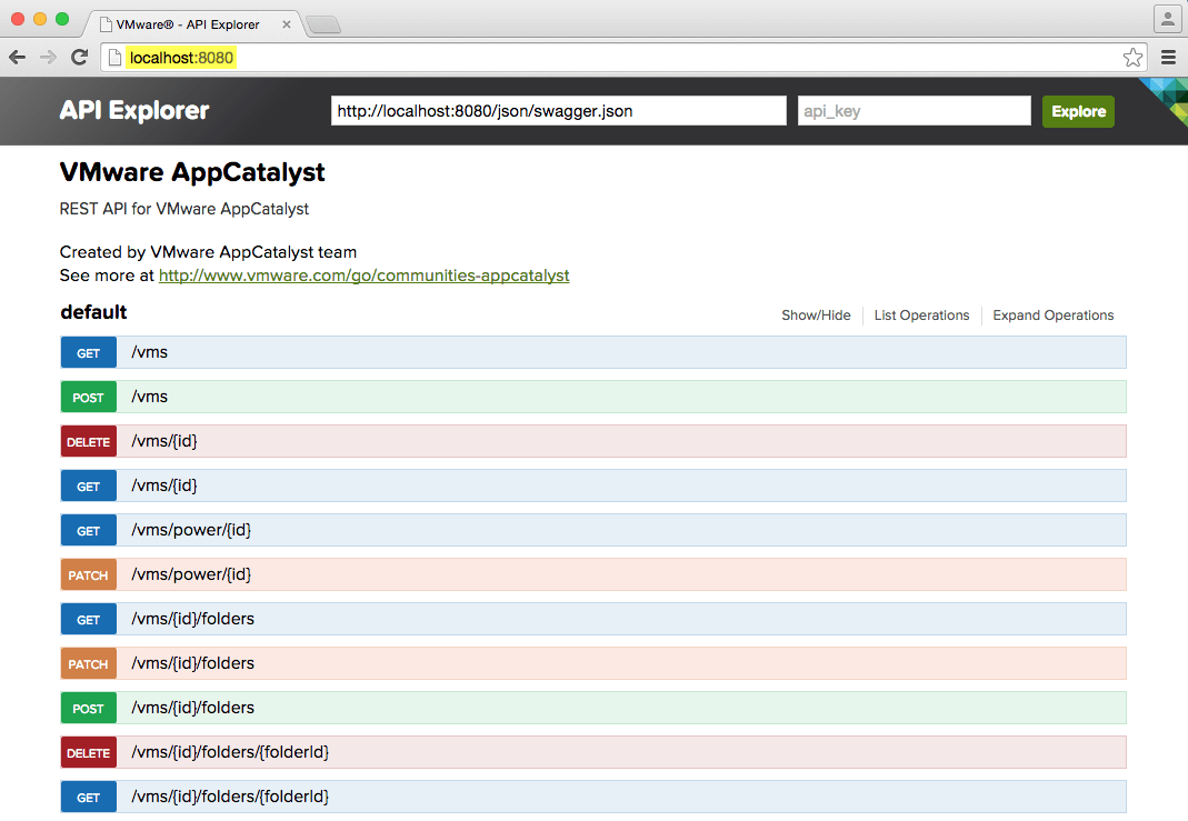 Quickly getting started with VMware AppCatalyst
