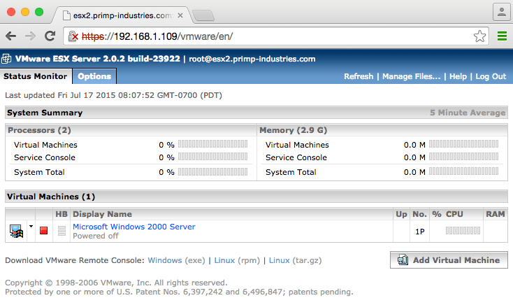 New HTML5 Embedded Host Client for ESXi