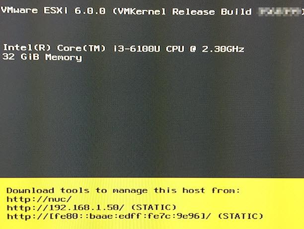 VSAN 6 2 (vSphere 6 0 Update 2) homelab on 6th Gen Intel NUC