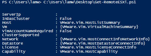 Remotely query an ESXi host without adding it to vCenter Server