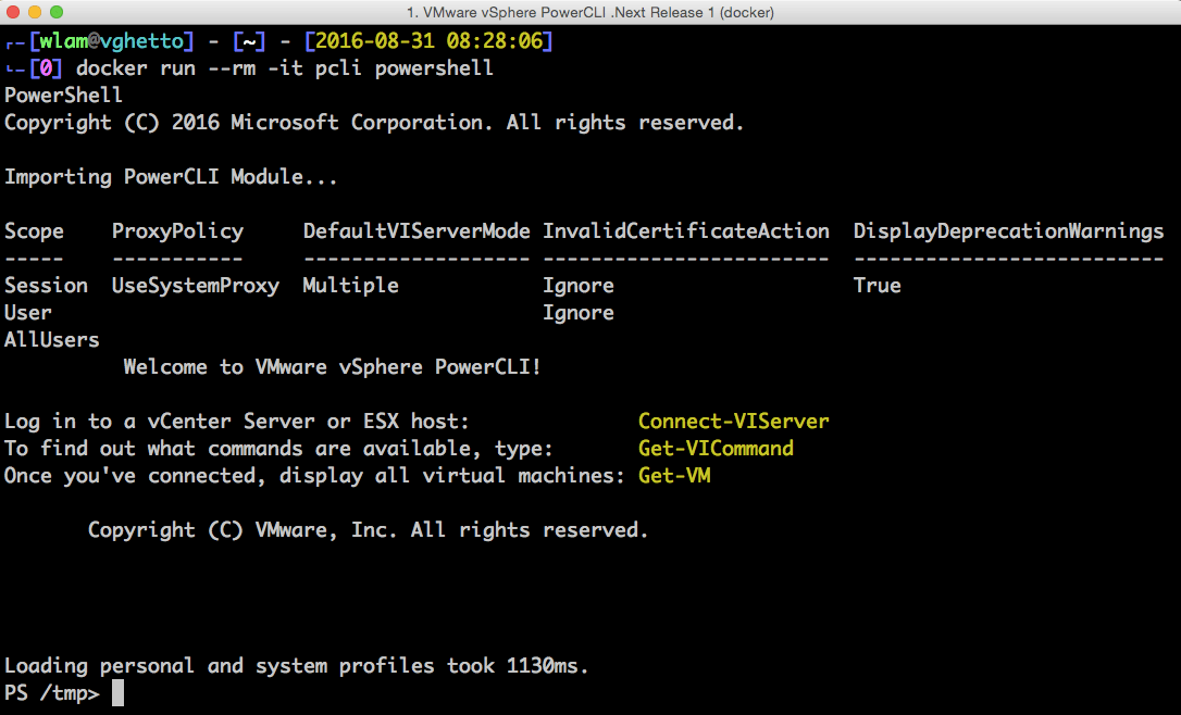 VMware PowerCLI for Mac OS X, Linux & More? Yes, please!