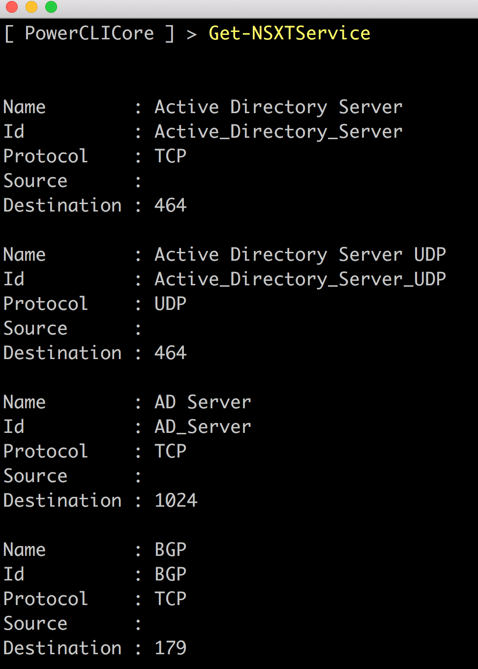 NSX-T Policy PowerShell Community Module for VMC