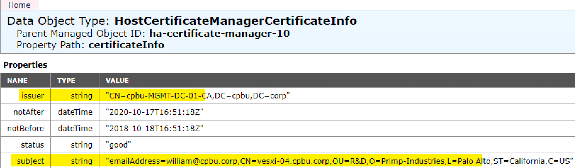 Is vCenter Server & ESXi hosts using VMware Certificate