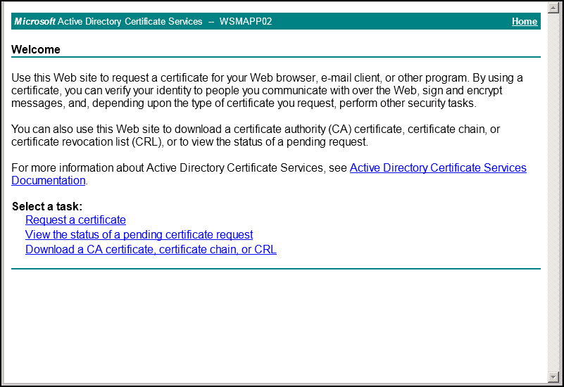 Issuing a certificate to exchange 2010 using an internal click request a certificate yadclub