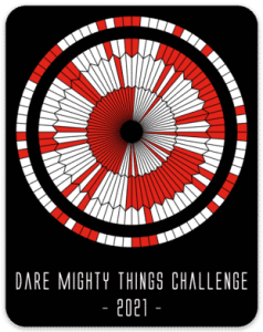 Dare Mighty Things Sticker