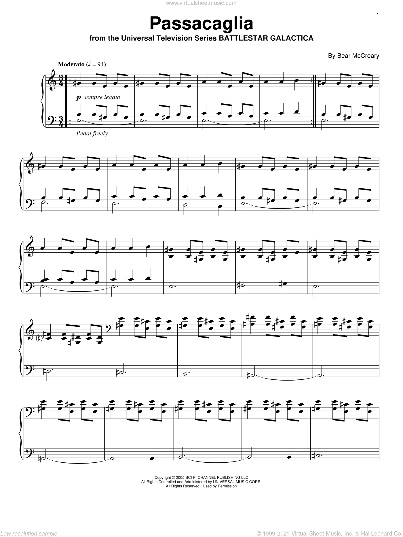 Passacaglia Free Sheet Music For Violin And Cello