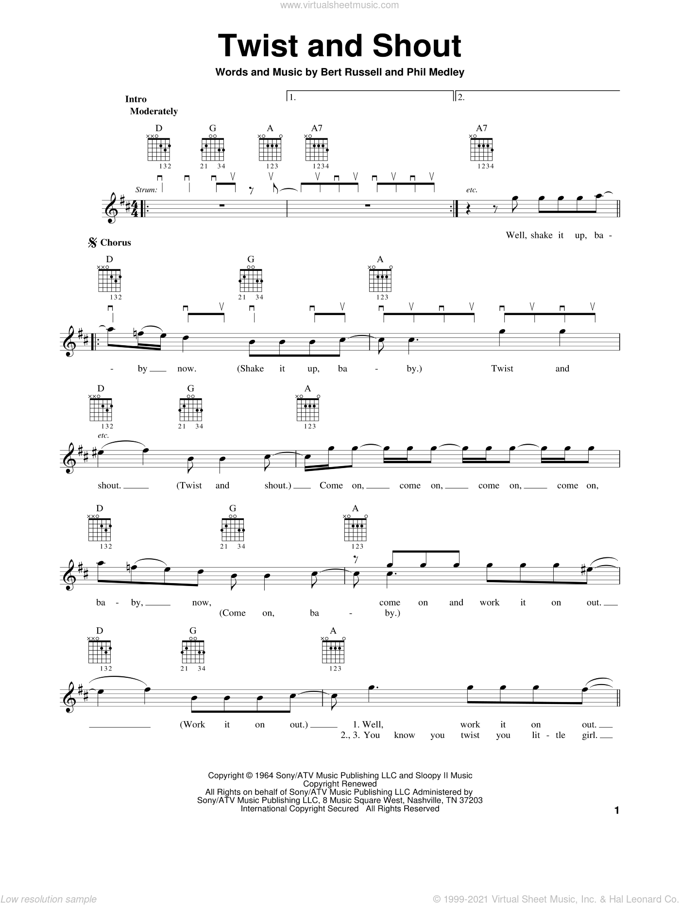 Beatles Twist And Shout Chords