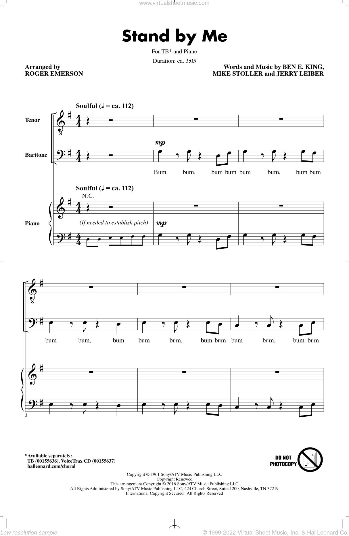 Stand By Me Alto Sax Sheet Music Free
