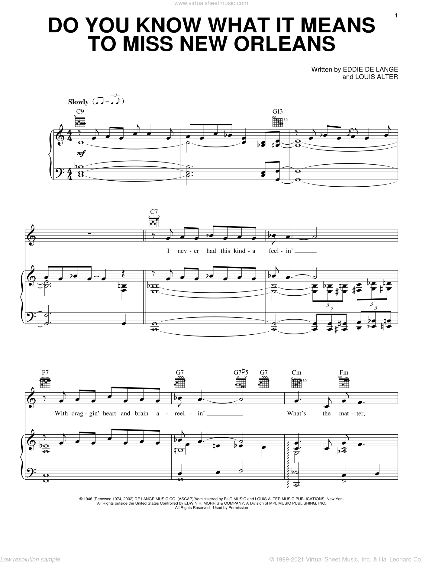 New Orleans Jazz Sheet Music Trumpet